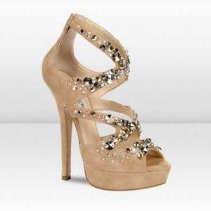 Jimmy Choo Zafira Swarovski Crystal Strappy Heels